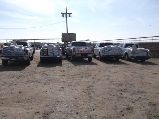 Five trucks were needed to transport all of the stolen property back to the victim in the Tulare County Sherrif's Department's Ag Crimes Unit latest bust this past week.