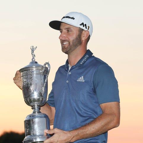 June 19: Dustin Johnson wins the U.S. Open at Oakmont.