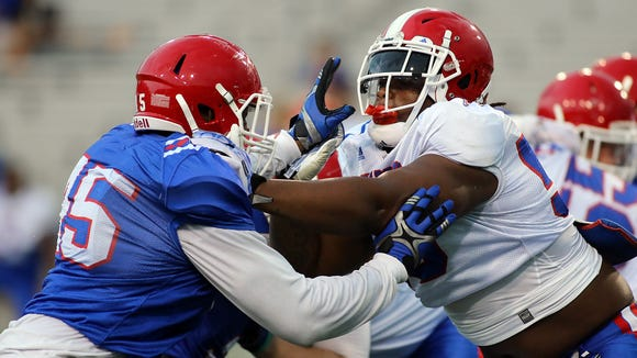 Louisiana Tech practiced for the 16th time Monday morning as part of a two-a-day session.