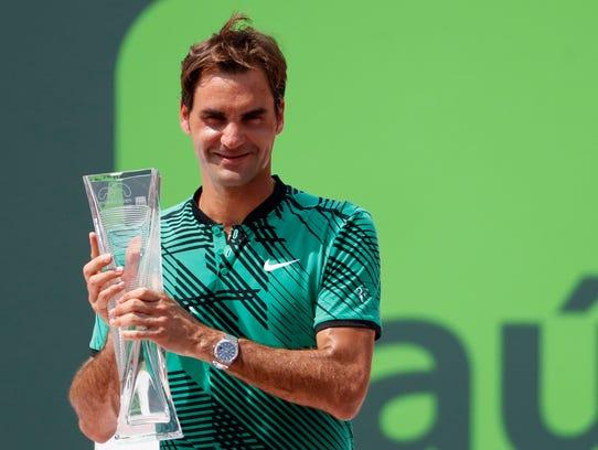 Roger Federer  beat Rafael Nadal in the men's final