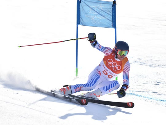 Ryan Cochran-Siegle (USA) in the first run of the men's