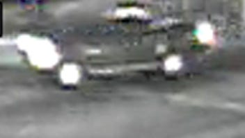 Surveillance cameras captured images of a dark-colored pickup believed to have been involved in a fatal hit-and-run on Sunday in Oxnard.