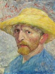"""""""Self-Portrait,"""" by Vincent van Gogh (1887) at the Detroit Institute of Arts. Oil on artist board, mounted to wood panel."""