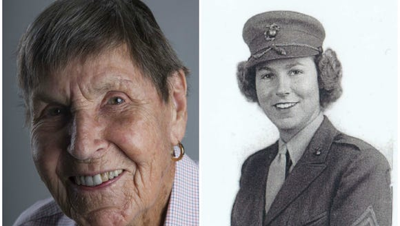 Bettie Lerdall was an athlete in high school. She enlisted