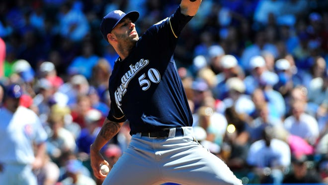 Mike Fiers was the first Brewers pitcher ever to strike out 14 batters in six innings.