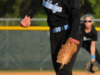 Melbourne's Melanie Murphy pitches during Tuesday's game against Rockledge.