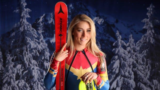 Olympic gold medalist Mikaela Shiffrin enters the Pyeongchang Games as the favorite in slalom, the event she won in Sochi.