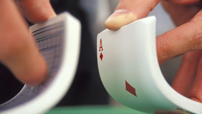 shuffling a deck of cards
