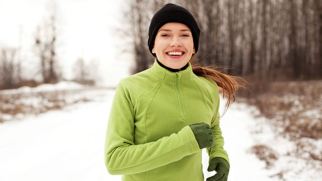 Layer up when working out in the cold.
