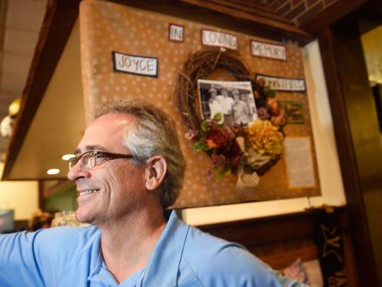David Baldwin, owner of Pancake Pantry, stands in front