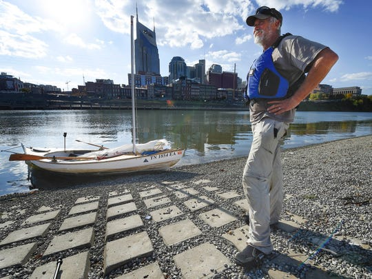John Guider stands on the East bank of the Cumberland