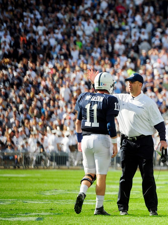 Bill O'Brien helped turn Matt McGloin into the Big Ten's top passer. He hopes to get to do the same with junior college star Jake Waters.