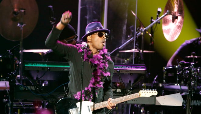Mint Condition performs during a tribute concert honoring the late musician Prince at Xcel Arena Thursday, Oct. 13, 2016, in St. Paul, Minn. Prince died in April of an accidental overdose.