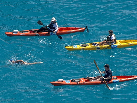 Florida kayakers help swimmer Nyad reach historic goal