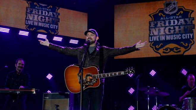 Kristian Bush performs during the NHL All-Star Outdoor Concert Series at the Bridgestone Winter Park on Friday, Jan. 29, 2016 in Nashville, Tenn.