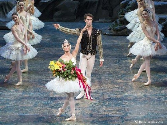 Misty Copeland and James Whiteside acknowledge the