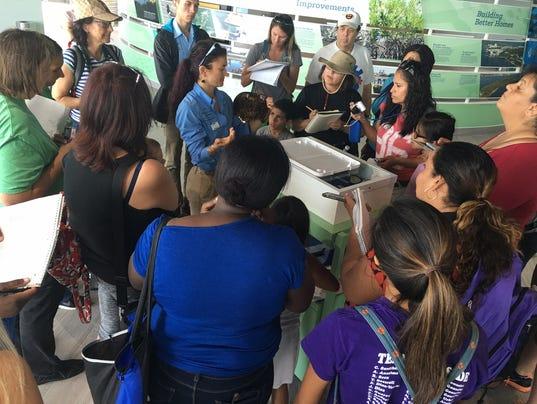 Bennice teaches public about manatees