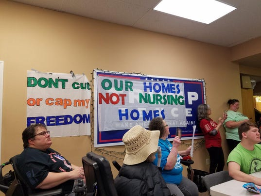 ADAPT protest inside county GOP headquarters