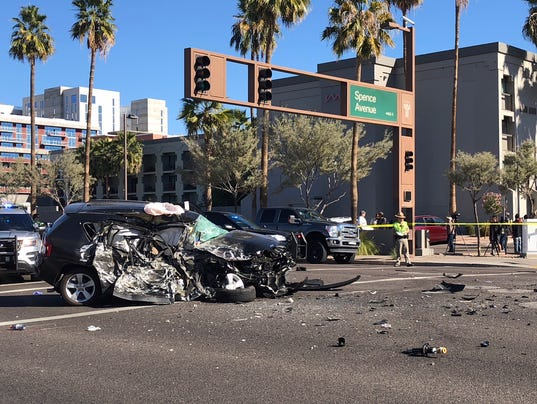 Aftermath of police chase in Tempe