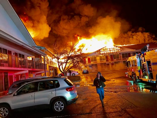 Fire Destroys Red Roof Inn Near Staunton