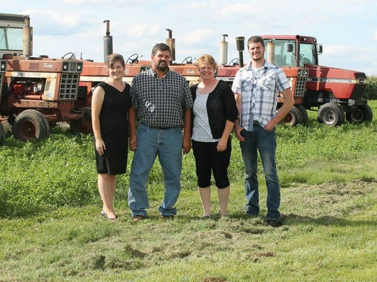 Kaitlyn Riley and her brother, Justin, were raised on the family's dairy farm in Crawford County, run by parents Jody and Paulette Riley.