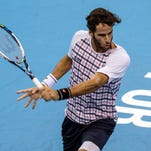 Feliciano Lopez fired in 12 aces to edge past Nick Kyrgios 7-6 (2), 7-6 (5) in the semifinals of the Malaysian Open.