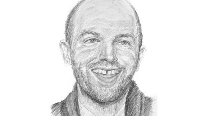 Comedian Paul Scheer, sketched by Alex Kelly.