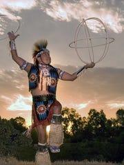Ken Ross World champion hoop dancer Derrick Suwaima