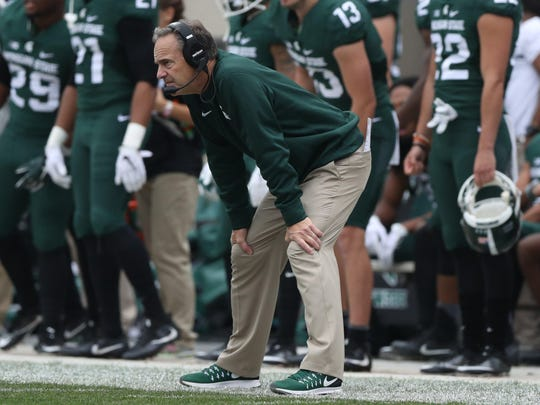 "Spartans head coach Mark Dantonio on Saturday in East Lansing after the loss to Michigan. ""You gotta be able to get 1 yard,"" he said later of a missed opportunity."