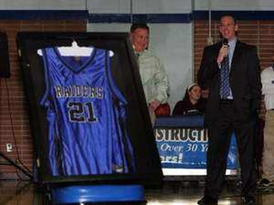 Scotch Plains HS retired Bryan Dougher's jersey last season