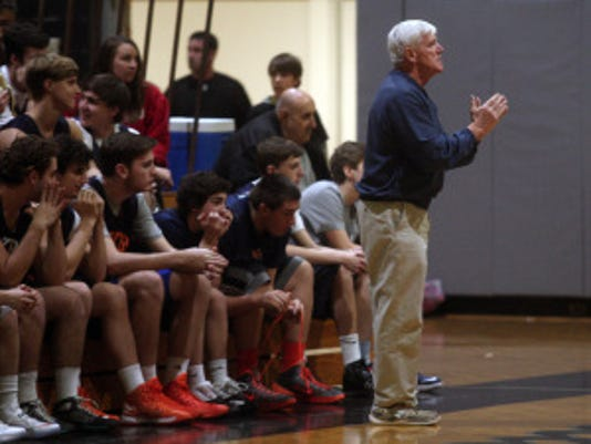Mountain Lakes coach John Bydook talks to his team in this file photo. Staff photo by Bob Karp/Daily Record