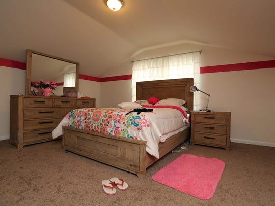 One of the bedrooms in the new three-bedroom at the