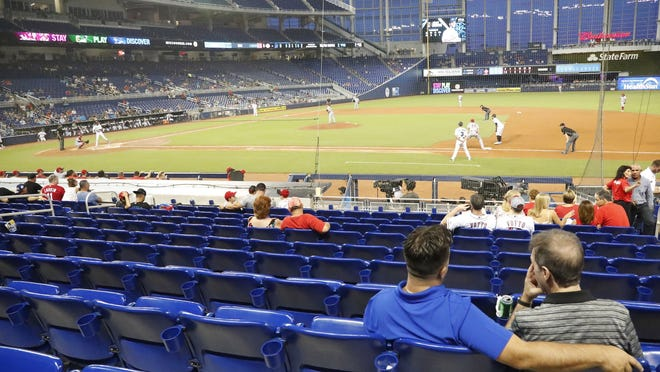 The Miami Marlins unkowingly have offered a glimpse as to what baseball games may look like this season, if fans are allowed at ballparks at all.