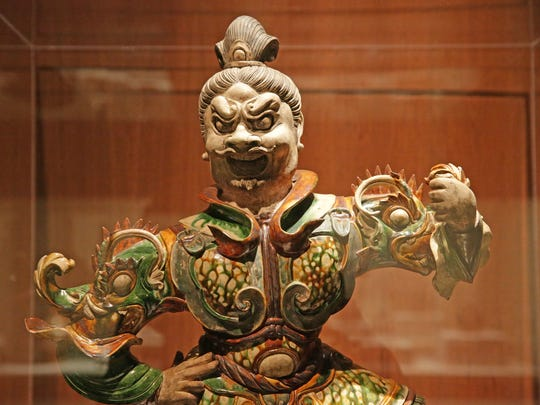 Tomb Guardian, China, Tang Dynasty, early 700's, Indianapolis Museum of Art collection.