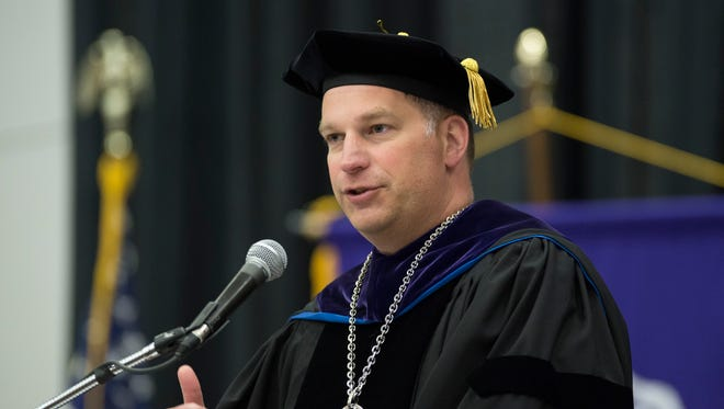 Daniel Eck will be stepping down as Lakeland University's president in January after nearly three years in the role.