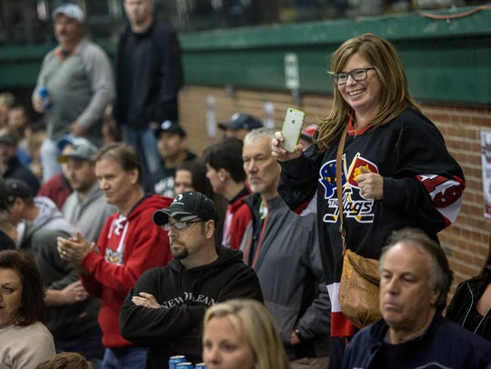 A Prowlers fan dances during the Commissioner's Cup