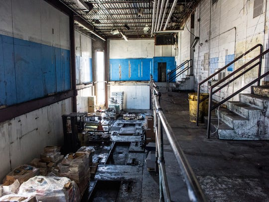 The former press room inside the Times Herald building in downtown Port Huron. Mark Walker, board chairman of Michigan Mutual, is in the process of obtaining a liquor license for 911 Military Street under The Press Room, LLC.