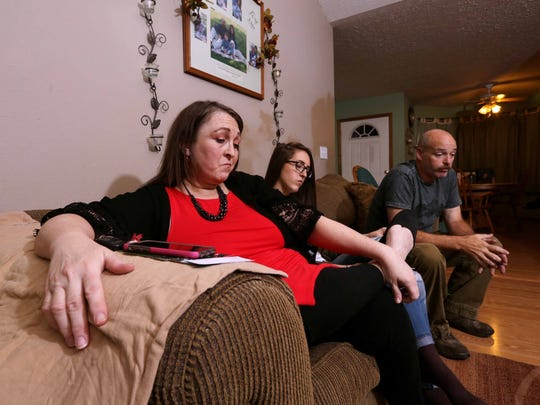 Brett and Heidi Clark, and their daughter Jadyn, still have a hard time with the overdose death of their son, Austin Clark.