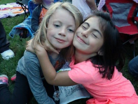 BFFs Samantha and Gianna, both 6, share Halloween joy