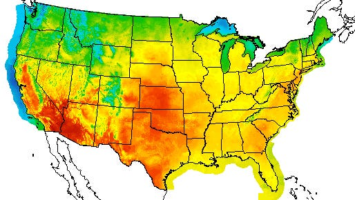 States in the central U.S. to East Coast are experiencing dangerous heat this weekend.