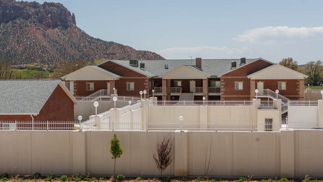A large home intended for the family of Warren Jeffs is seen in Hildale, Utah on April 26, 2013. Continental breakfasts are now being served at a bed and breakfast that has opened on the site of a sprawling, mostly unoccupied compound in southern Utah that was built for the leader of a polygamous sect. Willie Jessop runs the bed and breakfast.