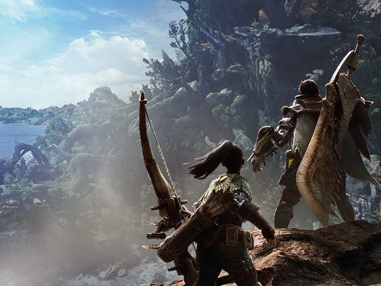 """Monster Hunter World"" features a huge open world where players hunt giant monsters."