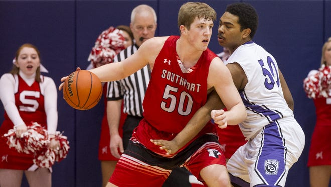 Southport High School product Joey Brunk (50) is part of Butler's strong recruiting class.