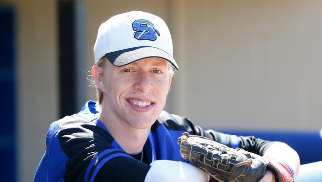 St. Mary's Springs' Jake Baker is a steady presence at the plate and in the field.