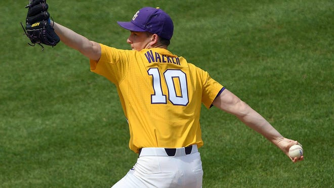 LSU pitcher Eric Walker threw his first complete game shutout.
