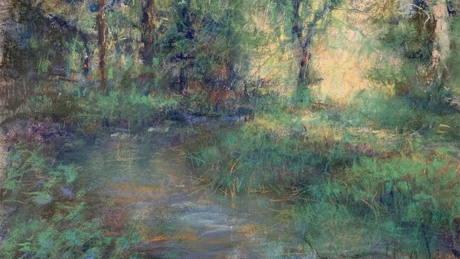 """The 24th annual Amesbury Cultural Council Open Studios Tour will be virtual this year, giving visitors a glimpse into Amesbury's artists' creative spaces and the chance to buy some local works of art. Shown here is """"Bends and Turns,"""" a painting by Tom Bailey."""