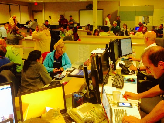 These were some of the more than 200 people stationed at the Brevard County Emergency Operations Center in Rockledge during Hurricane Matthew.
