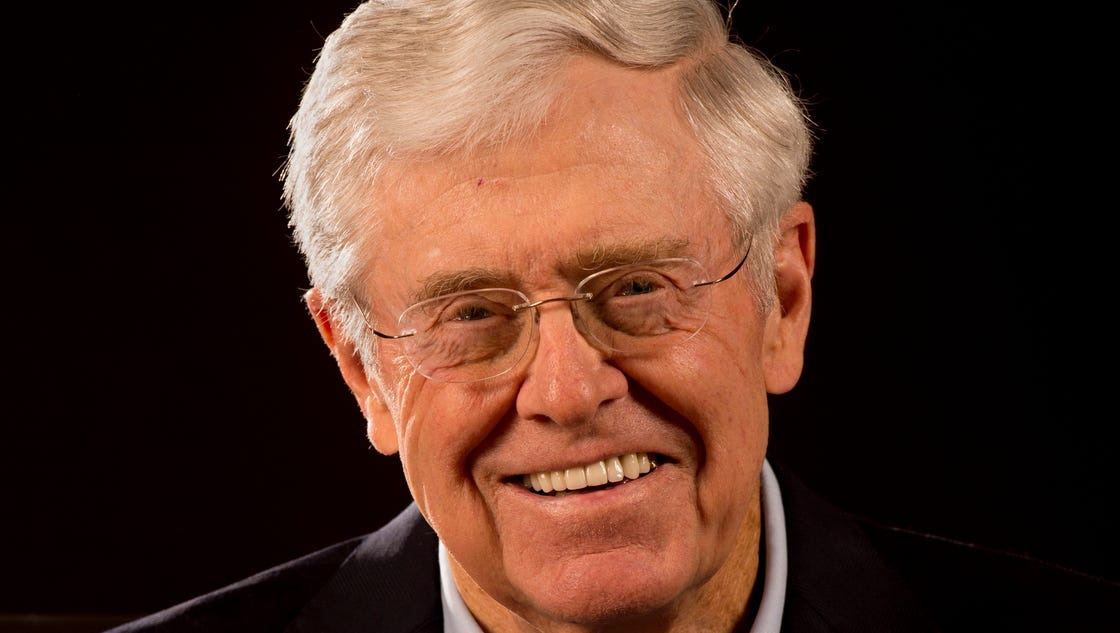 Charles koch we 39 re not in politics to boost our bottom line for David charles koch