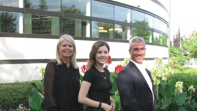 Melissa Mark (left) joins Ashley Aidenbaum and Frank Pisano on the Baldwin Public Library Board of Trustees.