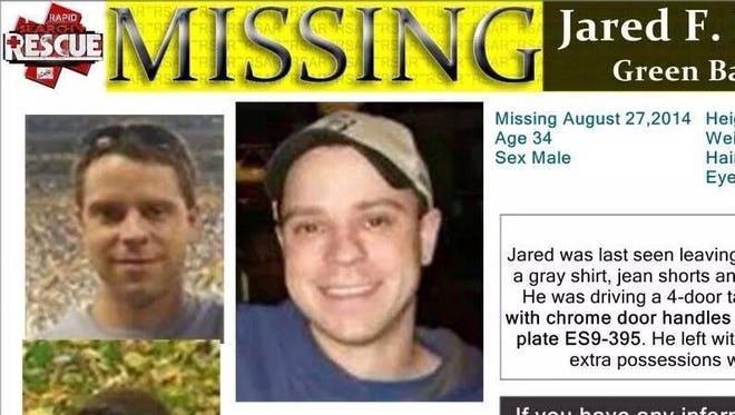 The poster circulated by Jared Lamer's family after he went missing